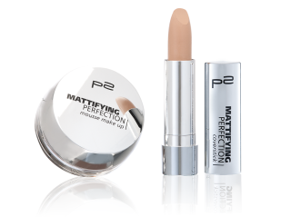 mattifying perfection mousse make up + coverstick_Gruppenbild